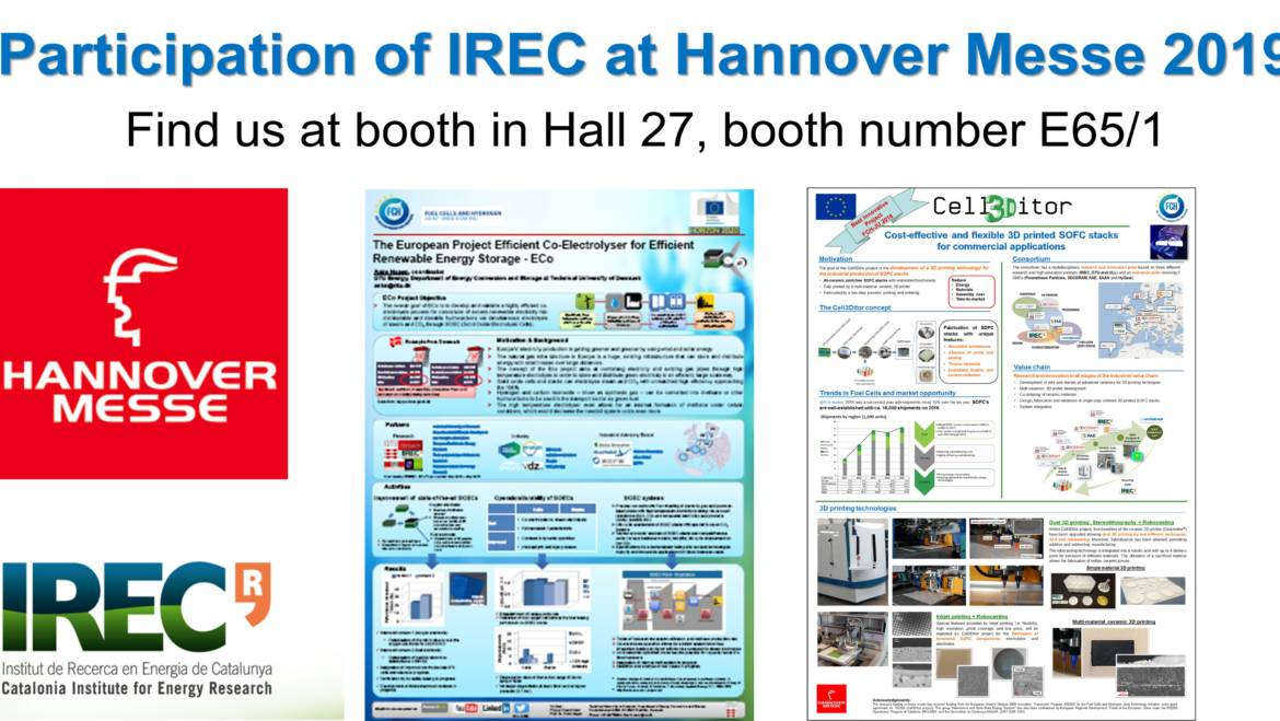 Participation of IREC at Hannover Messe 2019