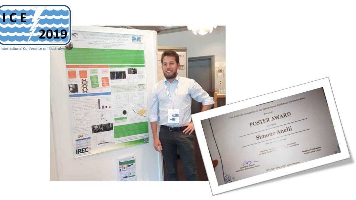 Best Poster Award for Simone Anelli at ICE 2019