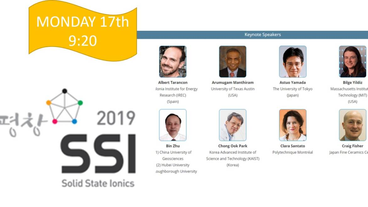 A. TARANCON AS A KEYNOTE SPEAKER AT SSI19 (Korea)